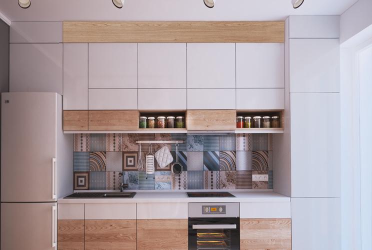 Кухня 4 метра в длину дизайн
