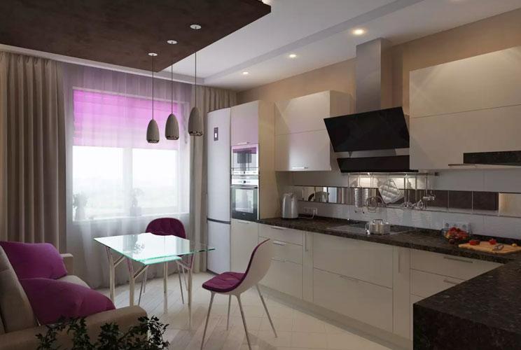 Кухня 12 кв м дизайн интерьер