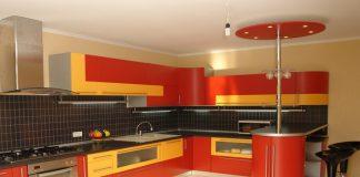 Кухня в оранжевом цвете дизайн фото