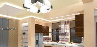 Кухня гостиная с барной стойкой дизайн фото