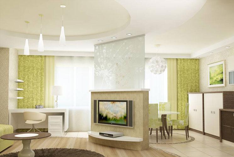 Дизайн гостиной с двумя окнами  14 фото примеров интерьера