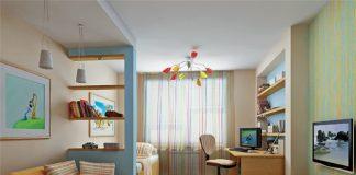 Дизайн узкой комнаты с окном в конце