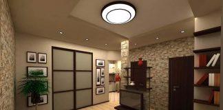 Дизайн гостиной совмещенной с прихожей