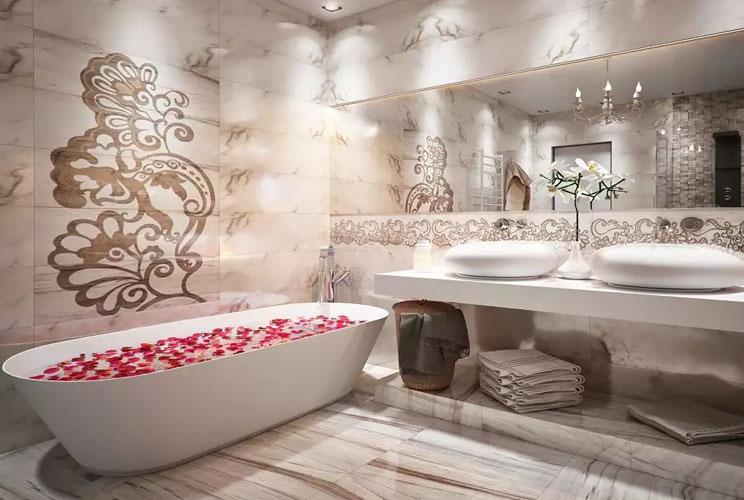 Дизайн интерьера ванной комнаты, оформление туалета, идеи ...