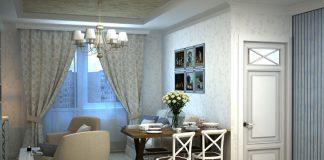 Дизайн однокомнатной квартиры в стиле прованс фото