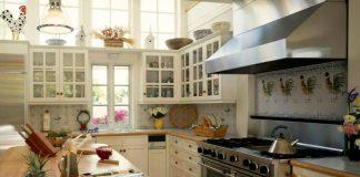 Дизайн большой кухни в частном доме фото