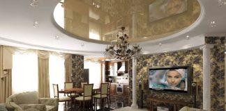 Дизайн кухни столовой гостиной в квартире фото