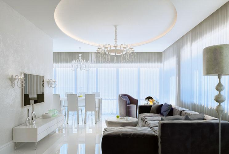 дизайн интерьер кухни столовой гостиной фото