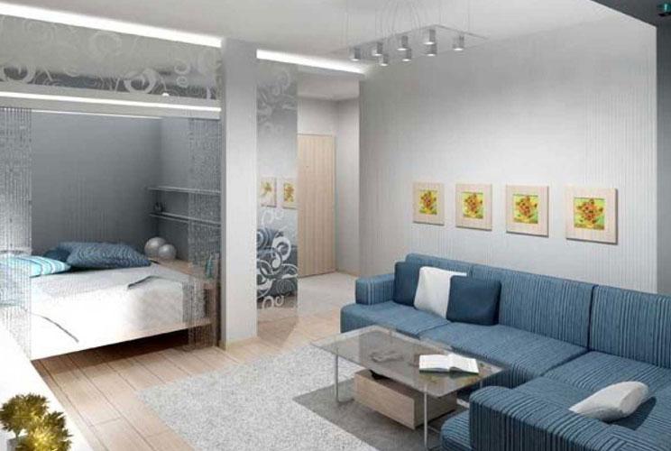 Идеи дизайна для однокомнатной квартиры фото