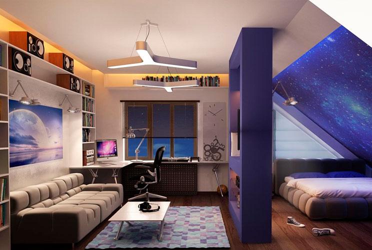 Комнаты на мансарде идеи дизайна фото