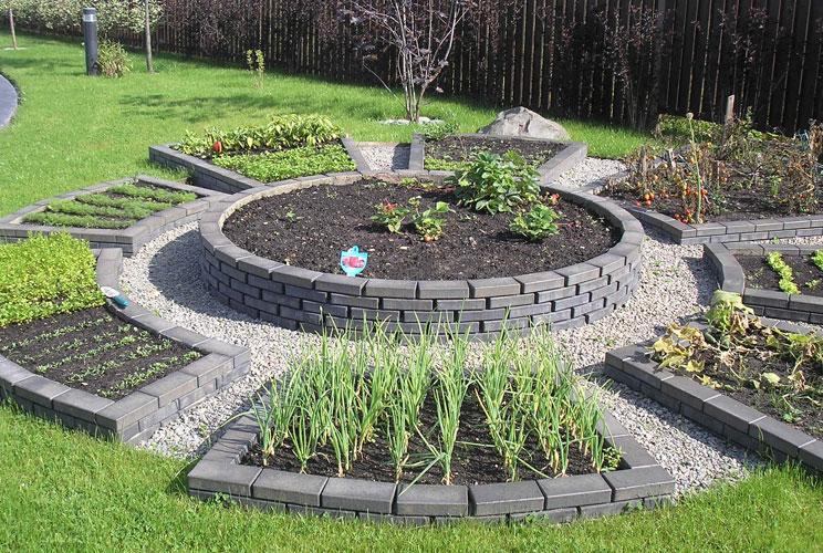 Красивый огород и сад ландшафтный дизайн