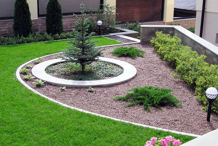 Дом в саду ландшафтный дизайн