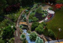Частные сады в Германии ландшафтный дизайн