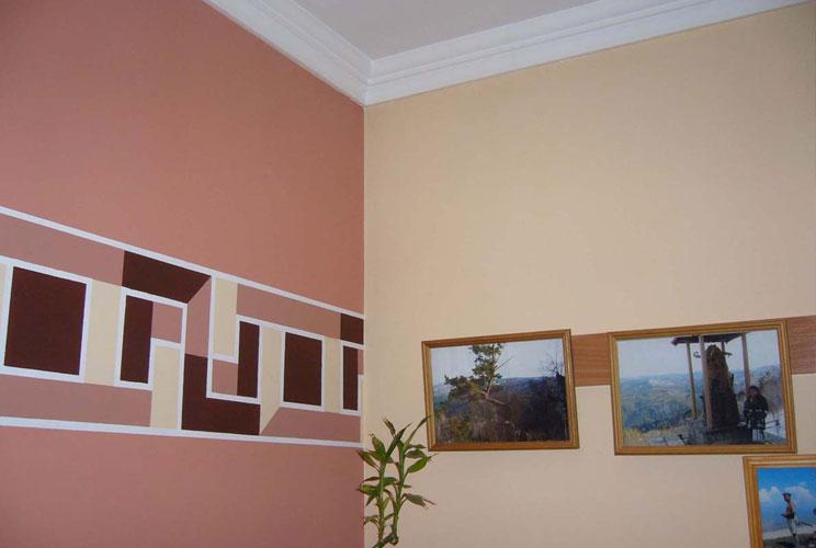 Покраска стен водоэмульсионной краской идеи фото