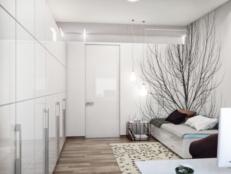 интерьер небольшой спальни в квартире