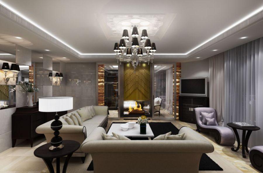 роскошный интерьер в квартире