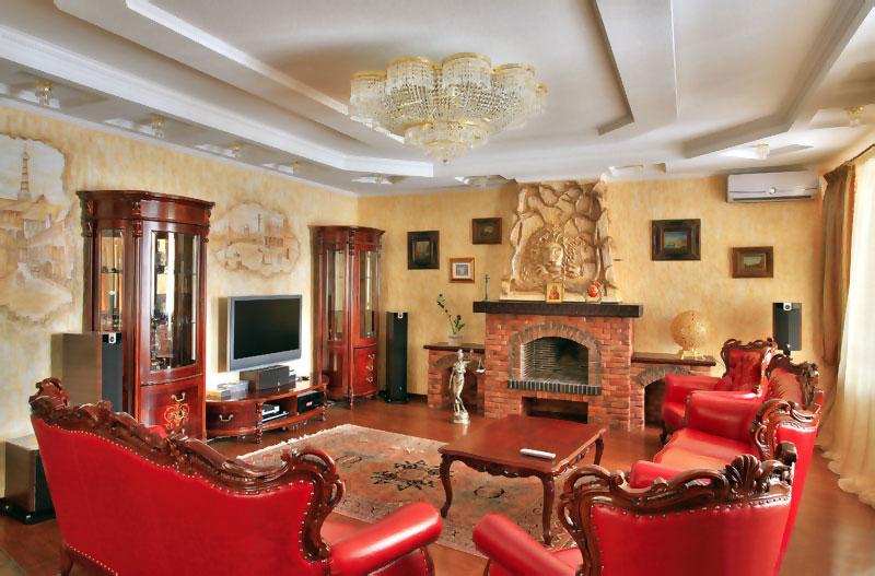 роскошный интерьер в доме