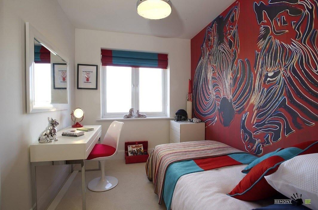 красивые стены в спальне