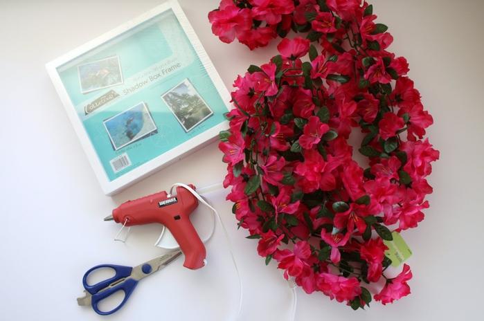 рамки с искусственными цветами
