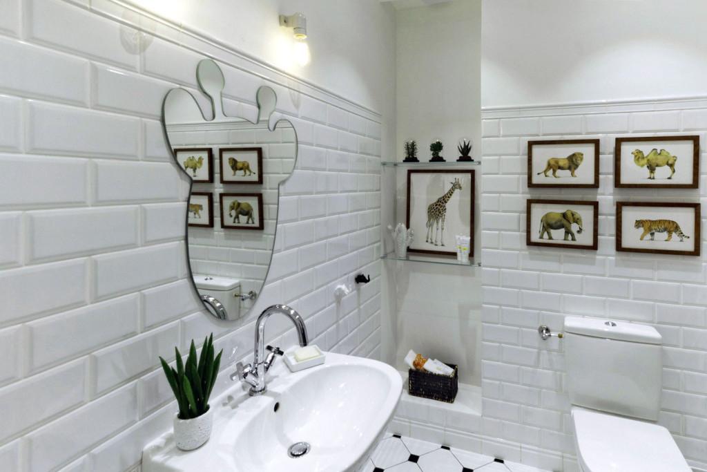 ванная в квартире лофте