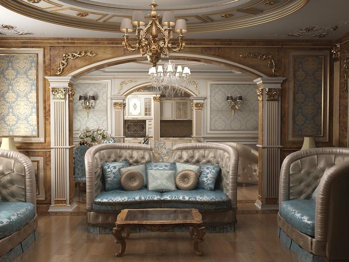 роскошная комната в классическом стиле