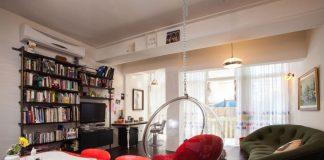 красивый интерьер квартиры в стиле 70
