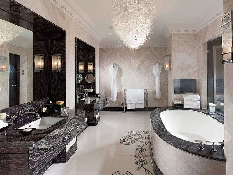 роскошная ванная в современном стиле