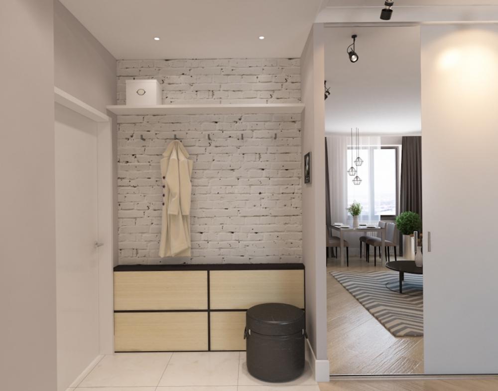 дизайн однокомнатной квартиры лофта